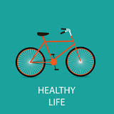 Bicycle illustration Stock Images