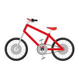 Bicycle Illustration Isolated On White Background Stock Photography