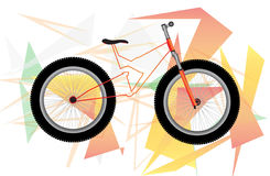 Bicycle illustration Stock Photography