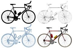 Bicycle  Illustration Vector Royalty Free Stock Photo