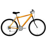 Bicycle. An illustration of a yellow bike Stock Photo
