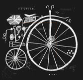 Bicycle. Image of an old bicycle with a large wheel Royalty Free Stock Photos