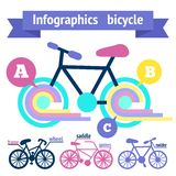 Bicycle infographic elements Royalty Free Stock Photo
