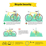 Bicycle infographics bicycle  security Royalty Free Stock Photo