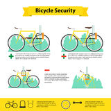 Bicycle infographics bicycle  security Stock Photography