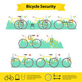 Bicycle infographics bicycle  security Stock Images