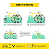 Bicycle infographics bicycle  security Stock Photo