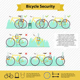 Bicycle infographics Royalty Free Stock Photo