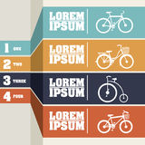 Bicycle infographics Royalty Free Stock Images