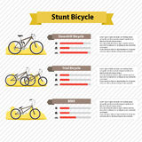 Bicycle infographics Royalty Free Stock Photography