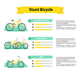 Bicycle infographics types of bicycles Stock Photo