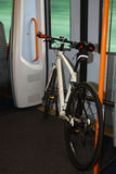 Bicycle inside a train Royalty Free Stock Photos