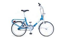 Bicycle isolated. Retro folding bicycle isolated on white background stock images