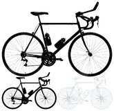 Bicycle Isolated On White Background Vector Stock Images