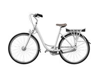 Bicycle Isolated. On white background. 3D render Royalty Free Stock Image