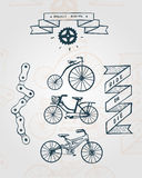 Bicycle items Stock Images