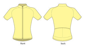 Bicycle jersey. Vector illustration of bicycle short sleeve jersey template stock illustration