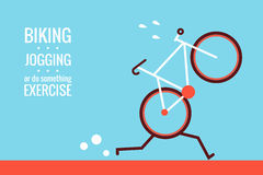 Bicycle. Jogging - exercise concept design royalty free illustration