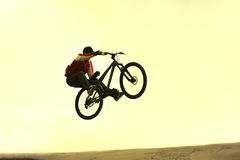 Bicycle jump royalty free stock images