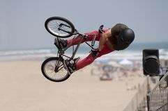 Bicycle jump Royalty Free Stock Photos