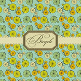 Bicycle label. Bicycle vintage label on green stock illustration