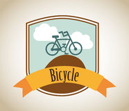 Bicycle label Royalty Free Stock Photos