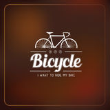 Bicycle label Royalty Free Stock Image