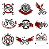 Bicycle labels and icons set. Vector. Sport, wing Stock Images