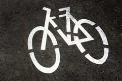 Bicycle-only lane Royalty Free Stock Image