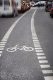 Bicycle lane Stock Images