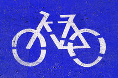 Bicycle-only lane Royalty Free Stock Images