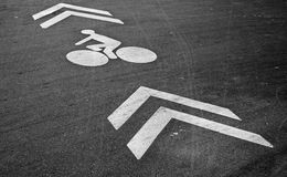 Bicycle lane Royalty Free Stock Photo