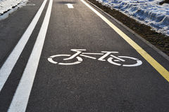 Bicycle lane. In the city park, Minsk, Belarus Stock Image