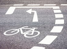 Bicycle lane Royalty Free Stock Photography