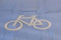 BICYCLE LANE ALLEEN AND KASTRUPLUNDGADE Stock Images