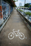 Bicycle lane along the canal in Khlong Saen Saeb Bangkok Thailan Stock Photo