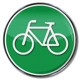 Bicycle lane and alternative royalty free illustration
