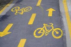 Bicycle lane Royalty Free Stock Image