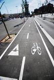 Bicycle lane, Barcelona Royalty Free Stock Photos