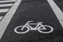 Bicycle lane Stock Photos