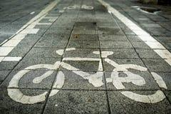 Bicycle lane. Bike lane in thailand Stock Photos