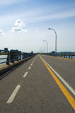 Bicycle lane on a bridge Royalty Free Stock Photos