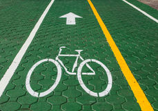 Bicycle lane only. Royalty Free Stock Image