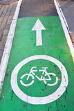 Bicycle lane in city of Khimki, Russia Stock Images