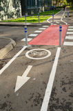 Bicycle lane in city of Khimki, Russia Stock Photography