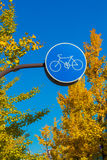 Bicycle lane, Royalty Free Stock Photography