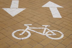 Bicycle lane  cycle path  - Stock Photos Royalty Free Stock Photography