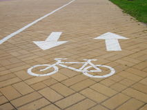 Bicycle lane - cycle path  - Stock Photos Royalty Free Stock Image