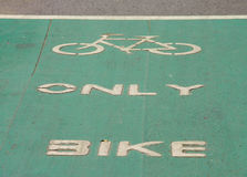 Bicycle lane, designed to make cycling safer Royalty Free Stock Photos