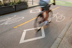 Bicycle Lane, Downtown Vancouver Stock Image